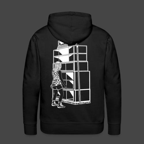 soundsystem tekno 23 fille - Sweat-shirt à capuche Premium pour hommes
