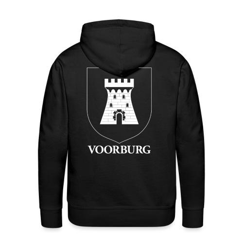 Voorburg wapen diapositief wit - Mannen Premium hoodie