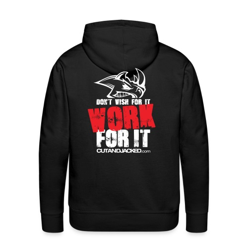 Work for it (wht) - Men's Premium Hoodie