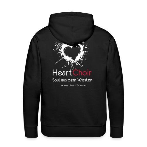 heartchoir logo mit schriftzug und webse - Männer Premium Hoodie