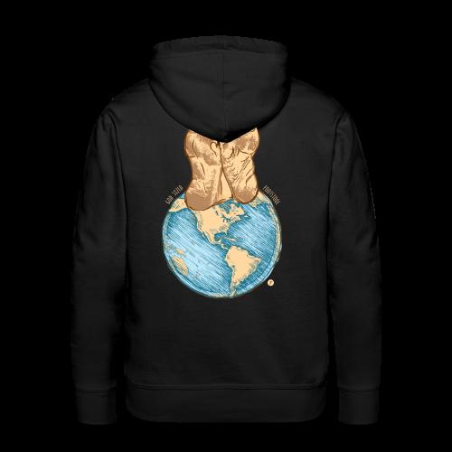God Sized Footstool Isaiah 66:1 Christian T Shirt - Men's Premium Hoodie