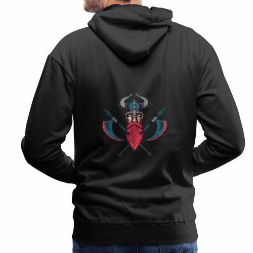 Viking With Axes T-Shirt - Norse Mythology - Miesten premium-huppari