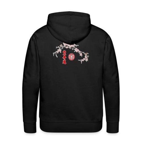 Branche cerisier gif - Sweat-shirt à capuche Premium pour hommes