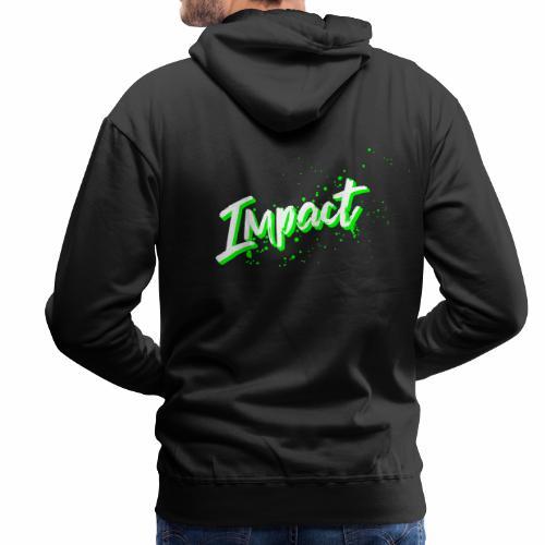 Impact Neon Logo - Men's Premium Hoodie