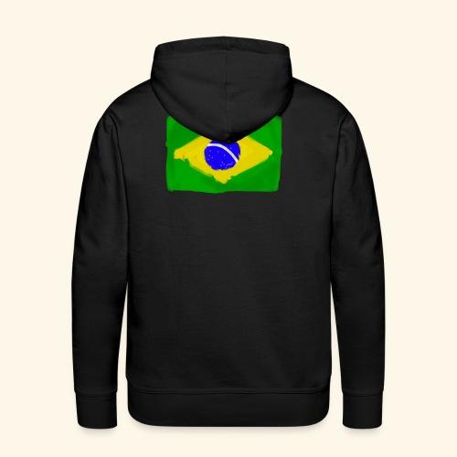 Brazilian flag InWatercolours - Premiumluvtröja herr