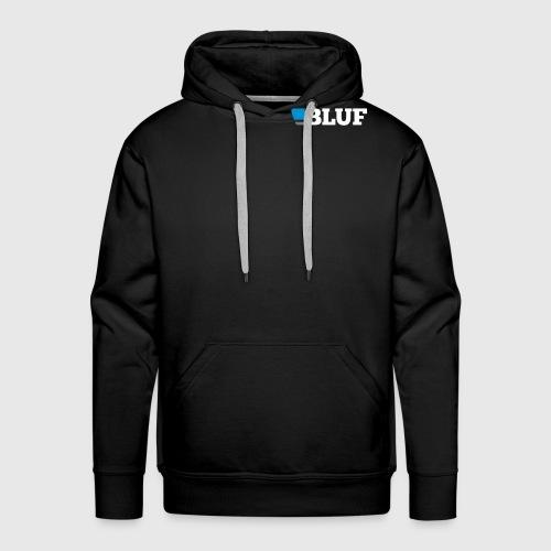 blufwhitetext - Men's Premium Hoodie