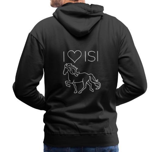 I love Isi, weiß - Männer Premium Hoodie