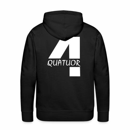 Quatuor - Sweat-shirt à capuche Premium pour hommes