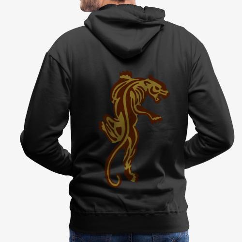 Tiger great cat design by patjila - Men's Premium Hoodie