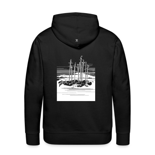 Revenge Capitalism (on black) - Men's Premium Hoodie