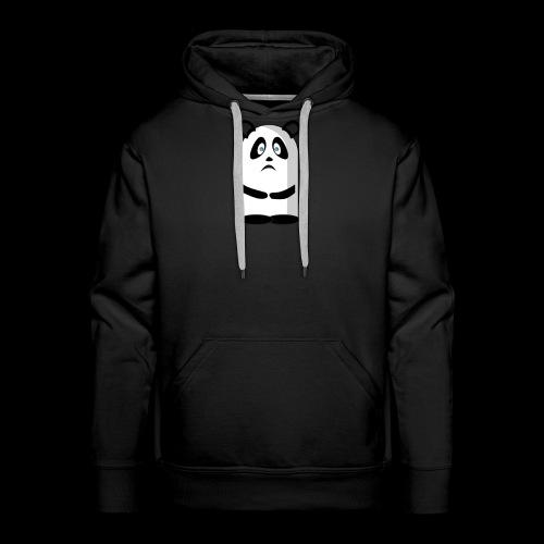 Mascotte panda triste - Sweat-shirt à capuche Premium pour hommes