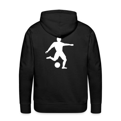 Fussballer schwarz - Männer Premium Hoodie