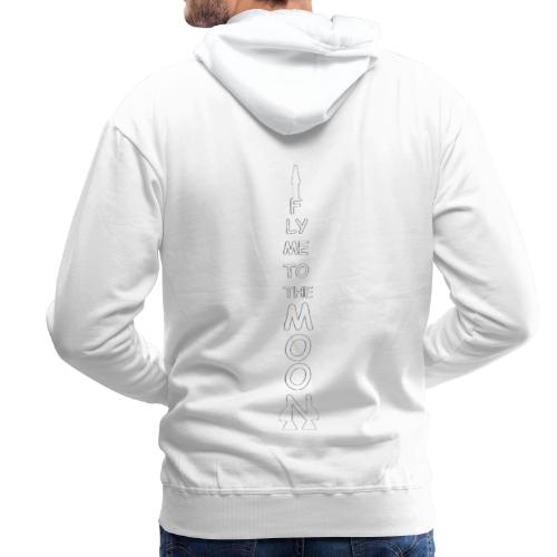 Fly me to the moon (MS paint version) - Mannen Premium hoodie
