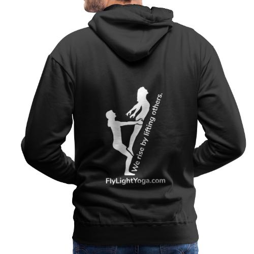 White: We Rise By Lifting Others - AcroYoga - Men's Premium Hoodie