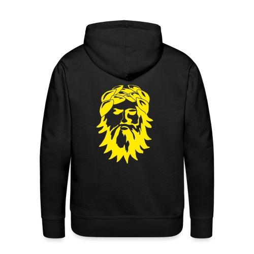 Alkuperäinen logo - keltainen - Miesten premium-huppari