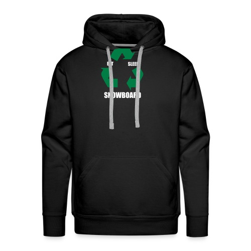 eatsleepsnowboard greenarrows - Men's Premium Hoodie