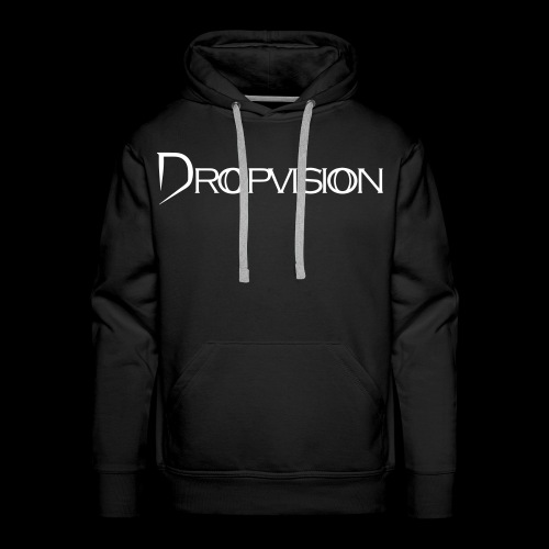 Dropvision Logo Vit - Premiumluvtröja herr