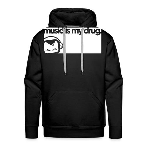 musicismydrug white - Men's Premium Hoodie