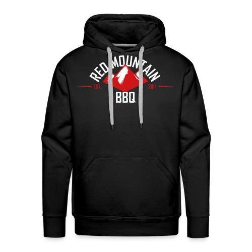 Redmountain-BBQ Logo weiß - Männer Premium Hoodie