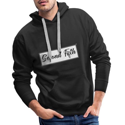 Logo Backgroud White - Sweat-shirt à capuche Premium pour hommes