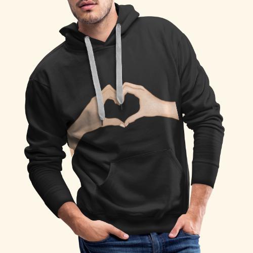 Mains Coeur Amour - Love hands - Sweat-shirt à capuche Premium pour hommes