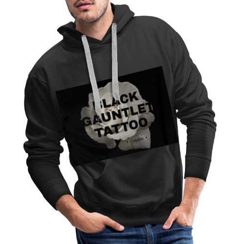 Black Gauntlet - White Rose - Men's Premium Hoodie