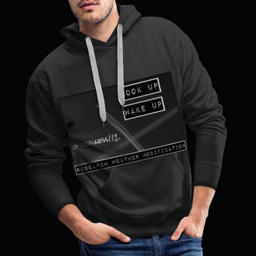 Look Up!! Wake Up!! Truth T-Shirts!! #WeatherWars - Men's Premium Hoodie