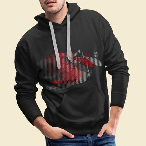 Radball | Earthquake Red - Männer Premium Hoodie