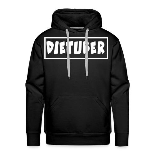 DieTuber Logo weiss - Männer Premium Hoodie