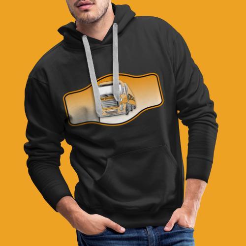 DerSimiGamer auf ein Schild - Männer Premium Hoodie
