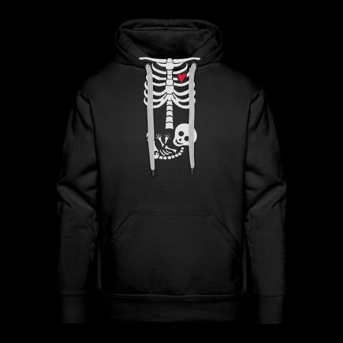 Baby Skelett Schwangerschafts Shirt - Männer Premium Hoodie