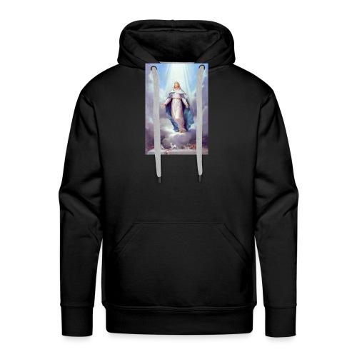 t-shirt vintage vierge Marie - Sweat-shirt à capuche Premium pour hommes