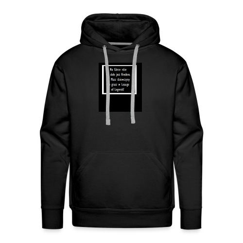 Rymowanka - Bluza męska Premium z kapturem