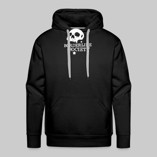 bs logo skull schrift klein - Männer Premium Hoodie