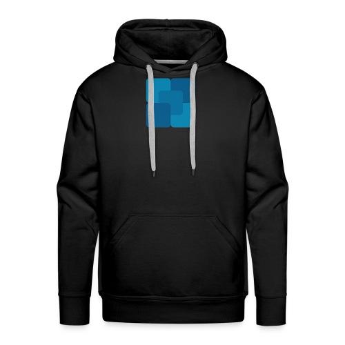 Kwadratowy płyn - Bluza męska Premium z kapturem