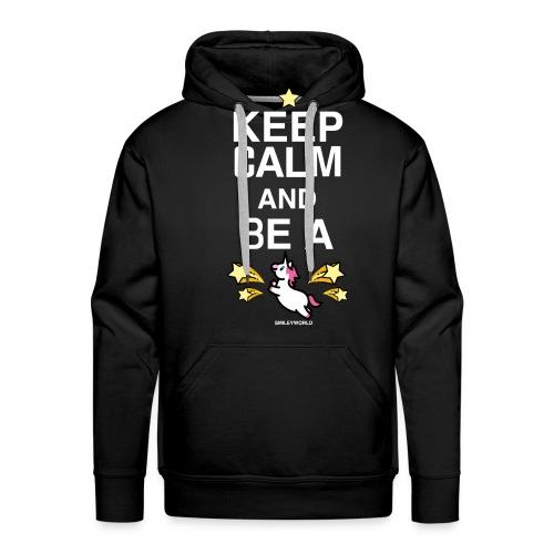 SmileyWorld Keep Calm And Be A Unicorn - Männer Premium Hoodie