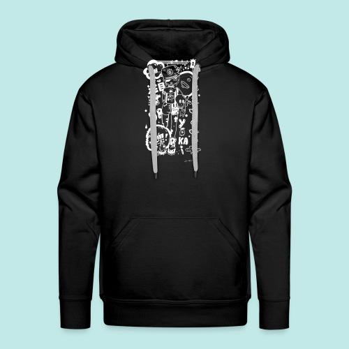 Fille manga dark avec monstres rock kawaii Blanc - Sweat-shirt à capuche Premium pour hommes