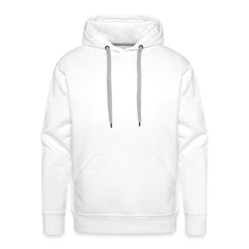 design no workout no gain white - Sweat-shirt à capuche Premium pour hommes