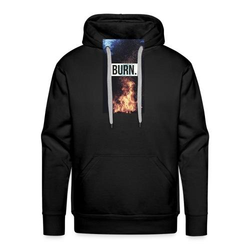 Burn - Sweat-shirt à capuche Premium pour hommes