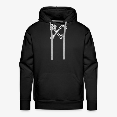 KeyBordel White - Sweat-shirt à capuche Premium pour hommes