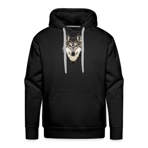 wolf, polygon design, unique - Men's Premium Hoodie
