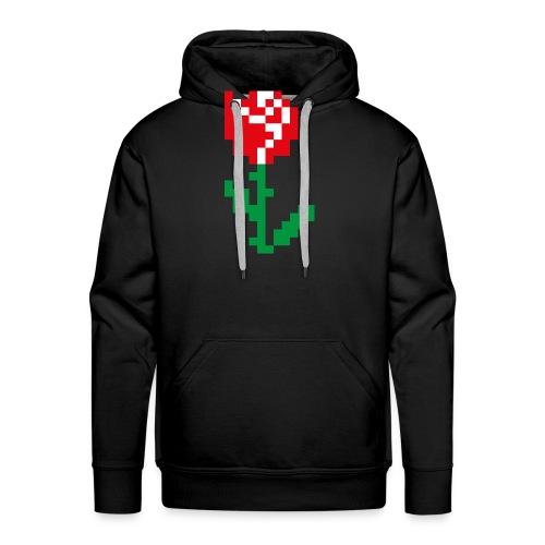 Rose Pixel - Sweat-shirt à capuche Premium pour hommes