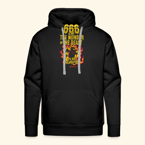 666 Is Not The Number Of The Beast T Shirt - Männer Premium Hoodie