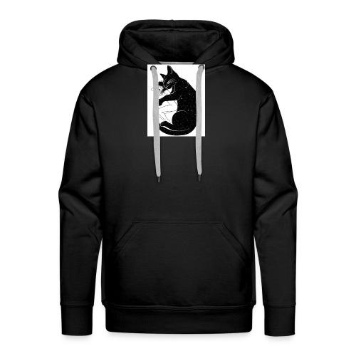 La fille et le Chat univers - Sweat-shirt à capuche Premium pour hommes