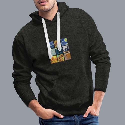 VAN GOGH COLLAGE - Sudadera con capucha premium para hombre