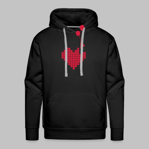 heart and balloons - Men's Premium Hoodie