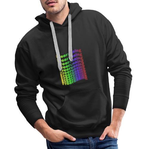 Freerunning Rainbow - Herre Premium hættetrøje