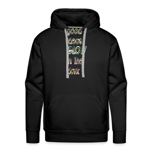 good ideas GLOW in the dark - Sudadera con capucha premium para hombre