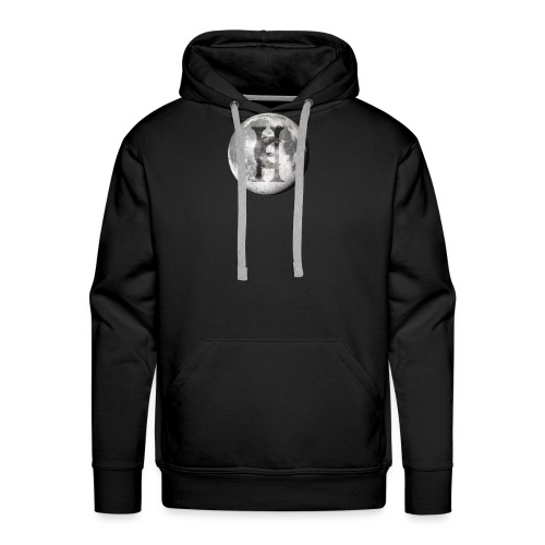 Haunted Company Moon Engraved - Men's Premium Hoodie
