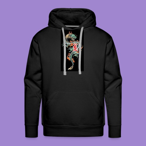 Dragon fire - Sweat-shirt à capuche Premium pour hommes